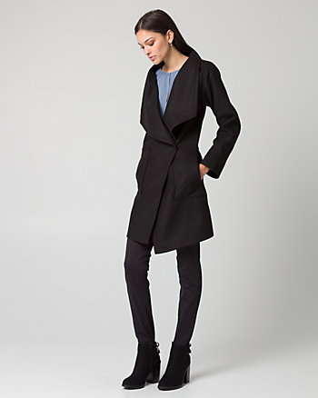 Cashmere-Like Open Collar Coat
