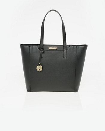 Saffiano Faux Leather Tote Bag