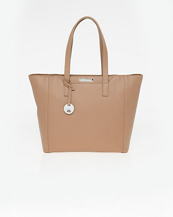 Saffiano Faux Leather Tote Bag