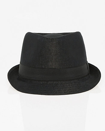 Cotton Blend Fedora Hat