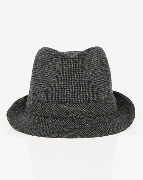 e4fa84485078f LE CHÂTEAU  Houndstooth Wool Blend Fedora Hat