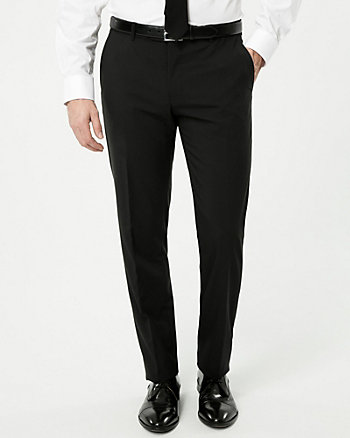 Tropical Wool Blend Slim Leg Pant