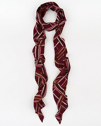 Geo Print Silk-Like Lightweight Scarf