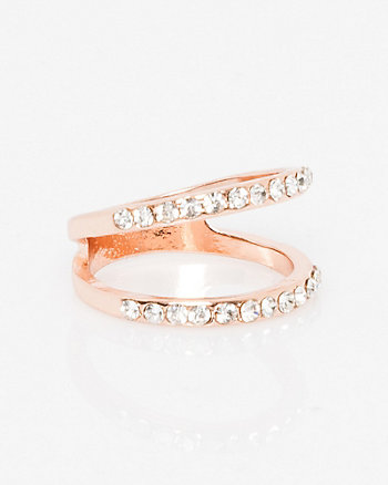 Double Band Gem Ring