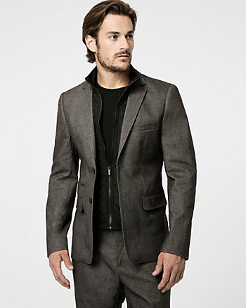 Tonal Tweed Contemporary Fit Blazer
