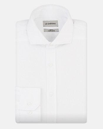 Chemise de coupe ajustée en piqué de coton
