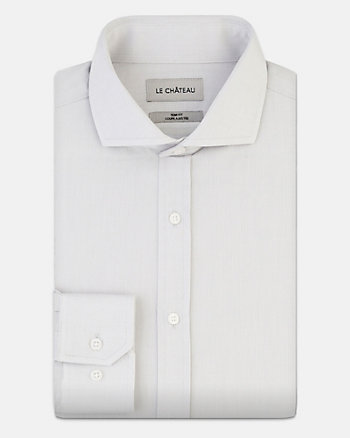 Tonal Cotton Piqué Slim Fit Shirt