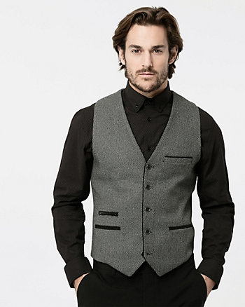 Stretch Piqué Contemporary Fit Vest