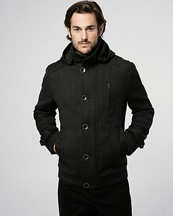 Textured Wool Twill Mailman Jacket