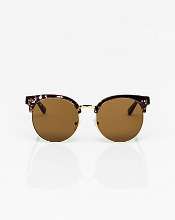 Tortoise Mirrored Sunglasses