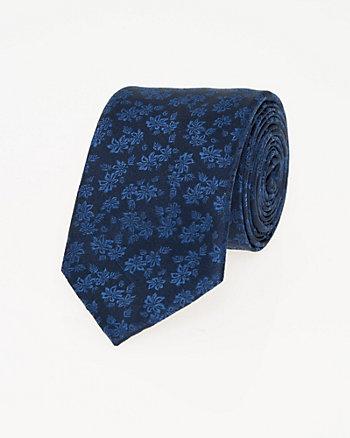 Floral Print Microfibre Skinny Tie