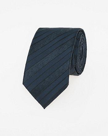 Stripe Viscose Blend Skinny Tie