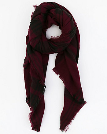 Check Print Woven Scarf