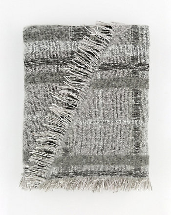 Check Print Woven Blanket Scarf