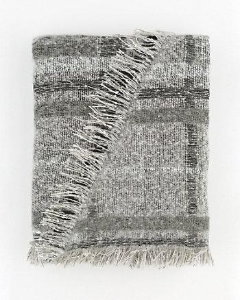 Check Print Woven Blanket Scarf