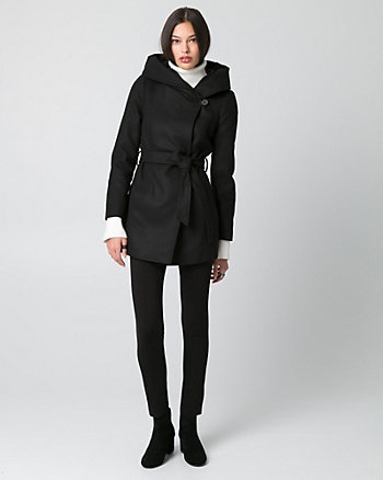 Cashmere-Like Hooded Coat