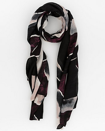 Abstract Print Woven Lightweight Scarf