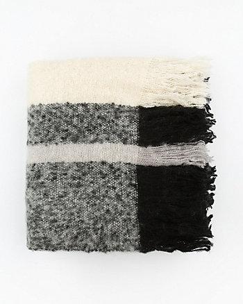 Écharpe couverture rayée