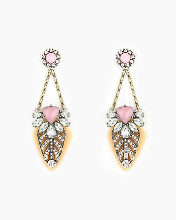 Faceted Gem Chandelier Earrings