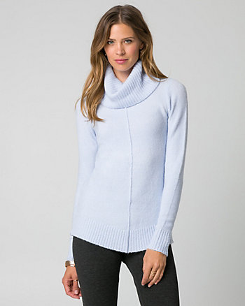 Bouclé Cowl Neck Sweater