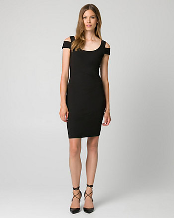 Knit Crêpe Scoop Neck Shift Dress