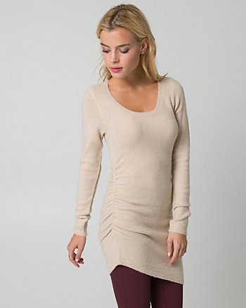 Bouclé Asymmetrical Tunic Sweater