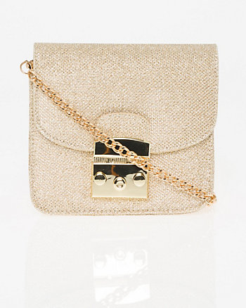 Glitter Mesh Crossbody Bag