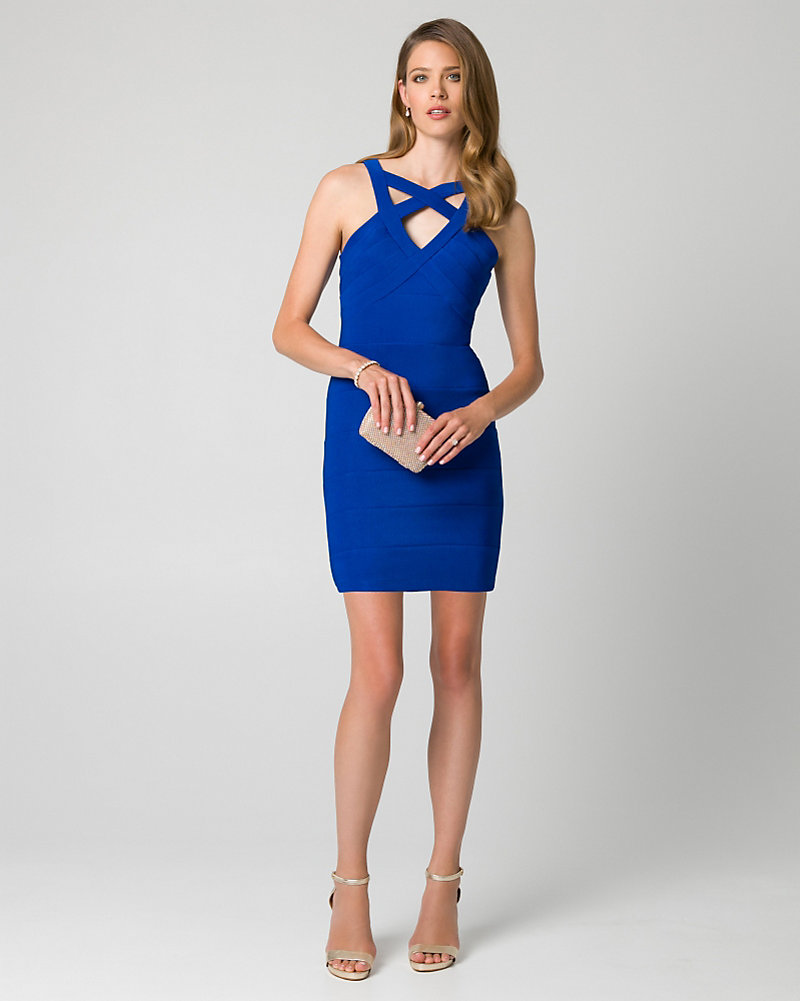 04c68ac6f68 Ottoman Knit Halter Cocktail Dress