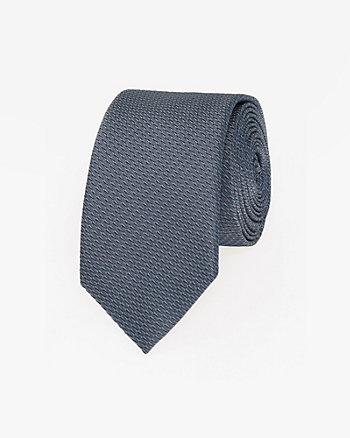 Two-Tone Microfibre Skinny Tie