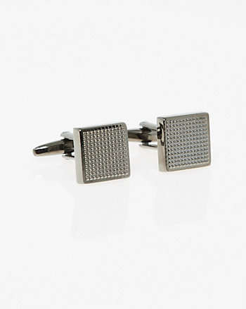 Textured Metal Square Cufflinks