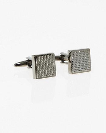 Textured Metal Square Cufflinks