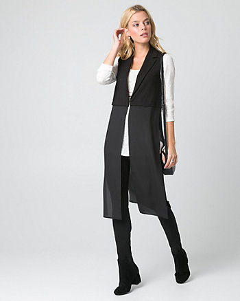 Ponte Notch Collar Fooler Vest