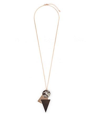 Circle & Triangle Pendant Necklace
