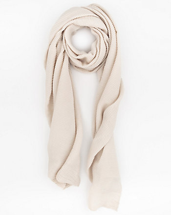 Woven Pleated Lightweight Scarf