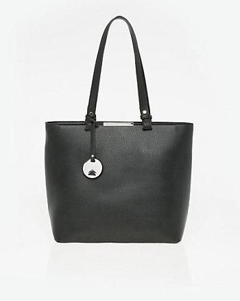 Pebble Leather-Like Tote Bag