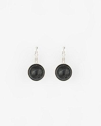 Stone Single Drop Earrings