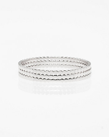 Set of Three Metal Bangle Bracelets