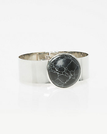 Stone Hinge Cuff Bracelet