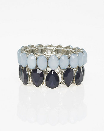 Cabochon Gem Stretch Bracelet