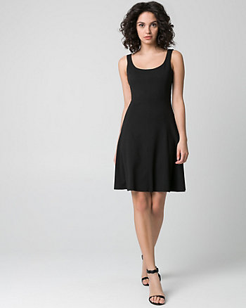 Knit Crêpe Scoop Neck Dress