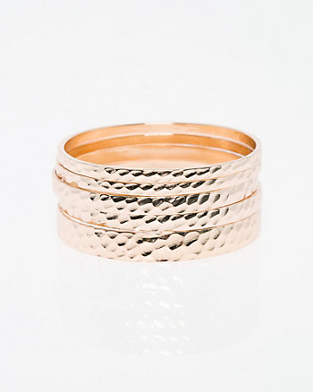 Set of Metal Bangle Bracelets