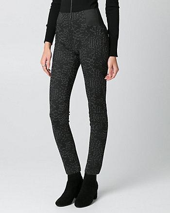 Leopard Print Ponte Skinny Leg Pant