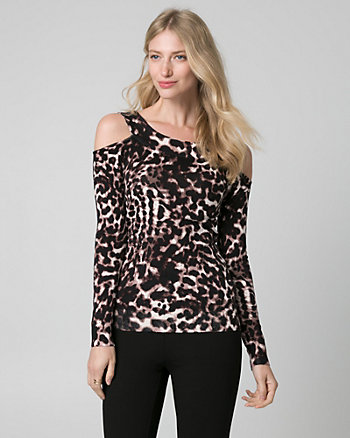 Leopard Print Viscose Blend Sweater