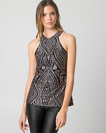 Sparkle Knit Halter Top