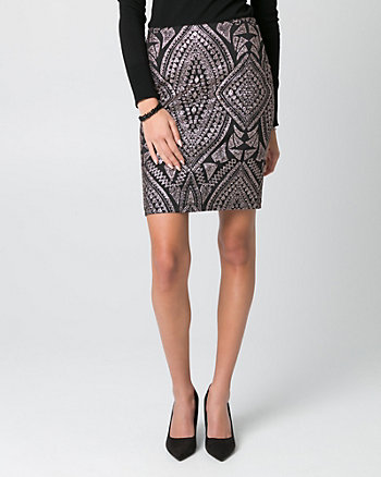 Sparkle Scuba Knit Pencil Skirt