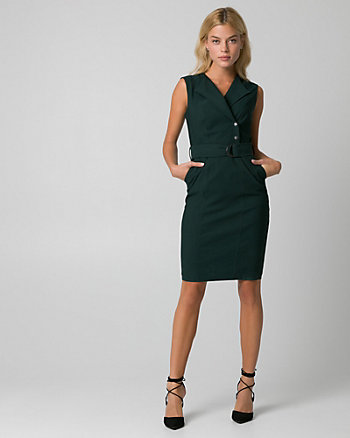 Tech Stretch Belted Shirtdress