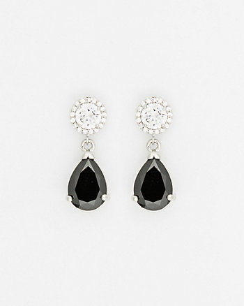 Gem Teardrop Earrings
