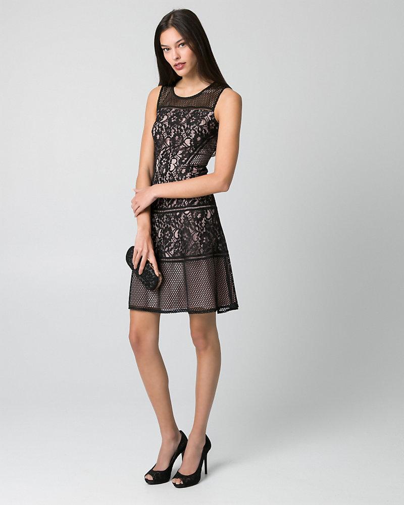 7d3df18dd1e Lace Illusion Cocktail Dress