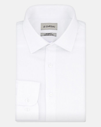 Tonal Cotton Sateen Tailored Fit Shirt