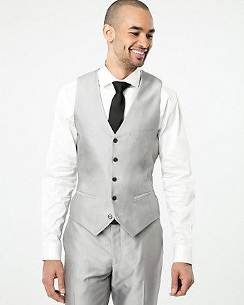 Shiny Twill City Fit Vest
